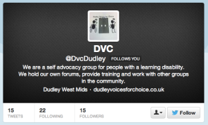 Dudley Voices for Choice twitter profile page