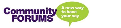 """local saying """"community forums, a new way to have your say"""""""
