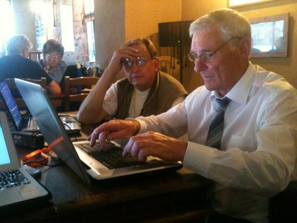 Photo of Gerry and Jim at Dudley Social Media Surgery