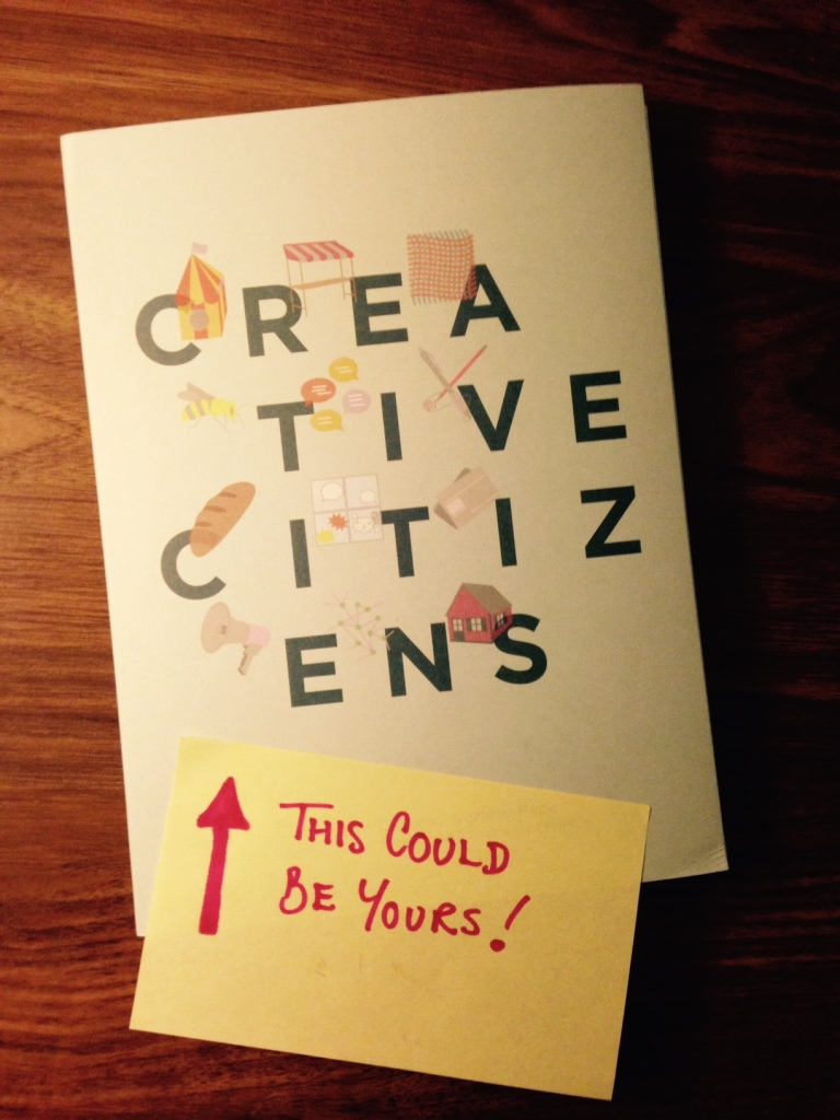 """Photo of a Creative Citizens Variety Pack with a post it note on saying """"this could be yours!"""""""