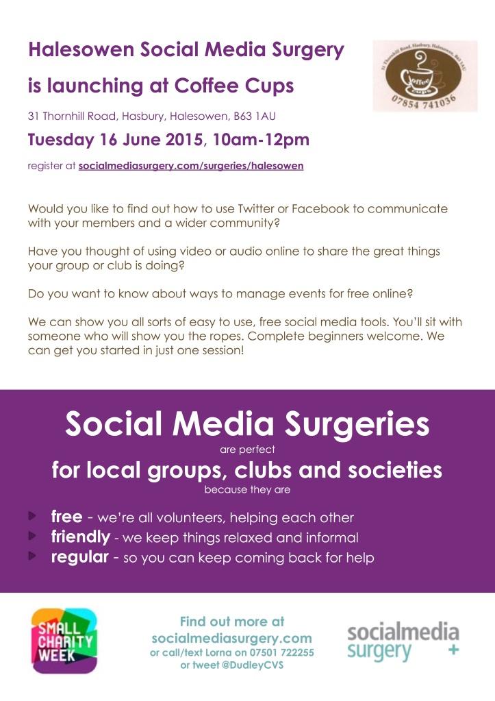 Halesowen Social Media Surgery